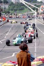 Leyton House March 90B photo  Paul Warwick.  1990 Birmingham Superprix F3000 (b)
